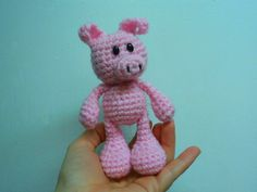 Little Bigfoot Piggy. Free pattern on blog. Click picture!