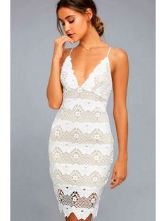 Every sway will be simply stunning in the Sway Away White Crochet Lace Dress! This stunning crochet lace dress has adjustable straps, and a darted triangle bodice with scalloped detail and a set-in waist. Sheath skirt has a matching scalloped hem. Vintage Midi Dresses, Lovely Dresses, Women's Dresses, Evening Dresses, Crochet Lace Dress, Lace Ruffle, Dress Lace, Long White Graduation Dresses, V Neck Dress