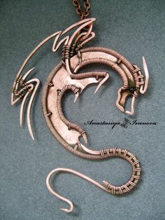 #Dragon sculpted with #copper, such a amazing piece of work, so in love with this one! DSC06532