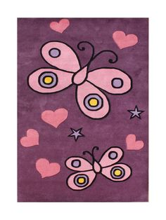 New Zealand Handmade Pink Area Rug