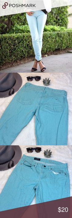"J Crew Ankle Toothpick Sky Blue Ankle Jeans 30 Classic toothpick style in ankle length in a beautiful light blue color. Great used condition.  Inseam 27.5"" Waist 16.5"" across Raise 8.5"" Bundles encouraged J. Crew Jeans Ankle & Cropped"