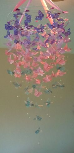 Baby Mine - Monarch Butterfly Chandelier Mobile. $60.00, via Etsy.