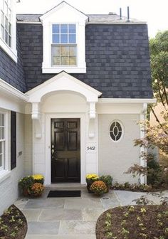 front entry porch for gambrel design home - Google Search