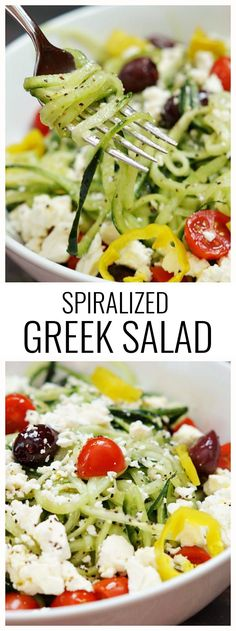 Authentic Greek Salad - I liked this (didn't use the dressing) but think I would prefer the cucumbers just cut up, not spiralized.