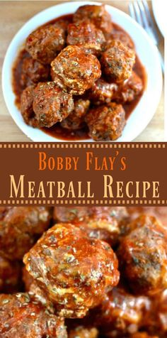 With a combination of 3 meats in a homemade marinara sauce, Bobby Flay's Italian. - With a combination of 3 meats in a homemade marinara sauce, Bobby Flay's Italian meatball recipe - Sauce Recipes, Meat Recipes, Cooking Recipes, Recipes Dinner, Cooking Games, Healthy Recipes, Lasagna Recipes, Cooking Pasta, Sushi Recipes
