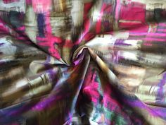 Cotton Sateen Abstract and Geometric Print with Stretch, 2 yard piece, 54 inches…