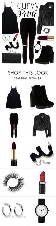 """My power look always includes: high waisted black jeans & booties"" by gina-cremont ❤ liked on Polyvore featuring Aéropostale, Hogan, New Look, Vetements, Lancôme, Sweet Romance, Sophie Buhai, LULUS and powerlook"
