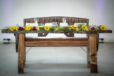 White barn Bride and Groom Table Ranch Weddings, White Barn, Dining Bench, Rustic Wedding, Wedding Venues, Groom, Bride, Table, Furniture