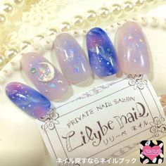 Kawaii Nail Art, Cute Nail Art, Cute Nails, Korean Nail Art, Korean Nails, Stylish Nails, Trendy Nails, Pretty Nail Designs, Nail Art Designs
