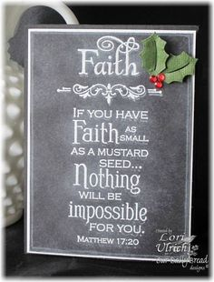 Created Faux Chalkboard card with ODBD's Faith, Fleur de Lis Borders and Seed Packet Sets