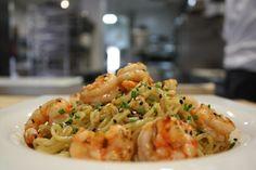 #noodles al #wok con #gamba y #miso