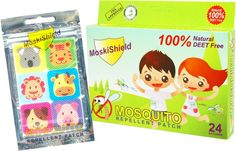 wengpot New Auth. Moskisheild mosquto repellent Patch contains 24pcs patches