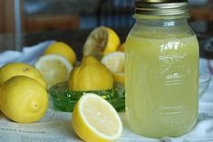"Pinner said: The best lemonade you'll ever taste! Made this more times than I know! Doesn't 'hurt' that it's ""Anne of Green Gable's"" recipe, too :)"