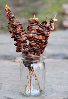 Maple Chocolate Bacon Skewers Recipe | The Homestead Survival