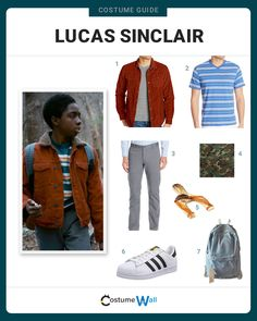 Dress like lucas sinclair costume. as one of nintendo's iconic characters, link has been featured in a cartoon series and of course the classic video game. Lucas Stranger Things, Stranger Things Characters, Stranger Things Aesthetic, Stranger Things Funny, Stranger Things Season, Stranger Things Costumes, Stranger Things Halloween Costume, Disfraces Stranger Things, Kiara Lion King