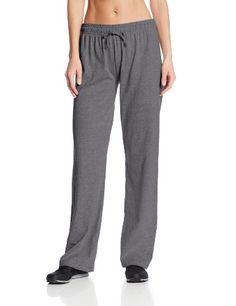 Champion Women's Jersey Pant, Granite Heather, Medium - http://womensoutdoorrecreationpants.shopping-craze.com/index.php/2016/05/03/champion-womens-jersey-pant-granite-heather-medium/
