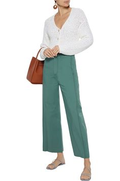 Shop on-sale Stella cropped cotton-blend twill wide-leg pants. Browse other discount designer Wide Leg Pants & more luxury fashion pieces at THE OUTNET Pants Outfit, Jacket Dress, High Waisted Palazzo Pants, Flare Pants, Fashion Pants, Wide Leg Pants, Latest Trends, Luxury Fashion, Legs