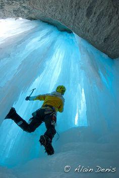 Ice Climbing blue Ice