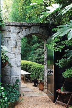 Lovely garden entrance