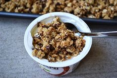 choc chip cookie granola top