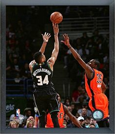 Giannis Antetokounmpo Milwaukee Bucks NBA Action Photo Size 17 x 21 Framed *** Continue to the product at the image link.