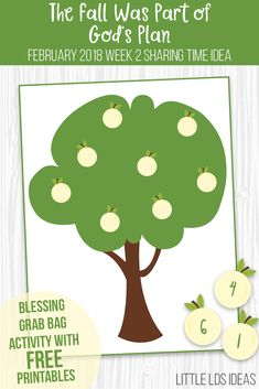 LDS Primary Sharing Time Idea for February The Fall Was Part of God's Plan. Free printables and idea from Little LDS Ideas.