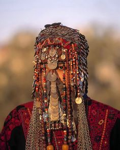 Bedouin Wedding Veil In Israel In traditional Bedouin wedding ceremonies, Bedouin brides often wear a heavy and ornate face veil comprised of various jewelry.