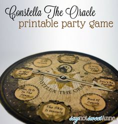 Oracle Party Game [Free Printable] – Sweet Anne Designs Constella The Oracle: Fun 8 ball like game for Halloween or. Halloween School Treats, Halloween Ii, Halloween Party Games, Halloween Party Decor, Holidays Halloween, Haunted Halloween, Gothic Halloween, Halloween Table, Halloween Festival