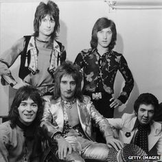 Ian McLagan (left) with the Faces in 1972