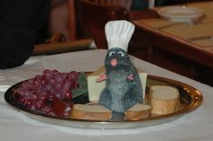 Ratatouille's Remy at Epcot's Les Chefs de France... though I heard he recently may have found a new place to cook...