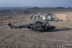 Westland Lynx Helicopters at the Salisbury Plain Training Area