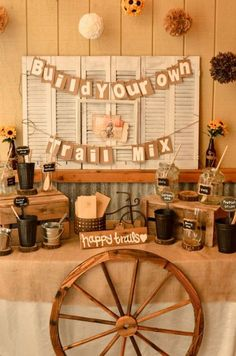 Having an outdoor themed wedding? A build your own trail mix bar allows your guests to make it as sweet or as savory as they please