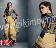 GULZAR DARKBLUE GEORGETTE ANARKALI SUIT 1406
