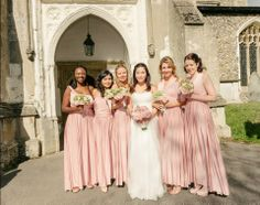 Eliza and Ethan - Multiway - Infinity - Bridesmaids Dresses - OneSize - Long MultiWrap Dress Color: Dusty Rose