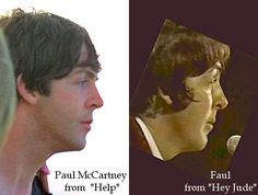 two Pauls, two very different profiles -- NOT photoshopped, watch the videos on Youtube to verify....