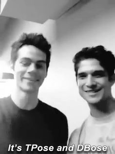 Dylan O´Brien and Tyler Posey gif