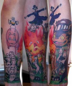 ghibli sleeve in progress by ~munkeebutt on deviantART  Would never get it, but it's awesome nonetheless!