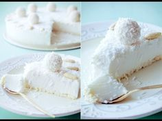 Torta Al Cocco Fresco. VIDEO : cake cold to coconut, clever cake without cooking - the cold coconut cake is a sweet fresh and easy to prepare. with this crispy base and this fantastic cream create a super . Cheesecake Recipes, Dessert Recipes, Coconut Cheesecake, Nutella Cheesecake, Kolaci I Torte, Good Food, Yummy Food, Macaron, Gastronomia