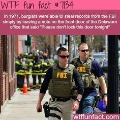 How burglars stole records from the FBI - WTF fun facts