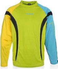 84f81ab5004 Reusch Adult Gomar Goalkeeper Jersey, Lime Punch/Cyber Yellow/Bluebird,  Large