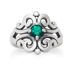 Spanish Lace Ring with Emerald: James Avery