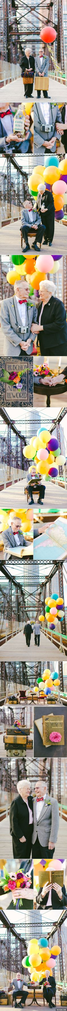 "This Couple Celebrates Their 61st Anniversary With ""Up"" Inspired Photoshoot"