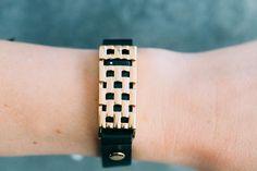 Gold Basketweave Wrap Bracelet — Bezels and Bytes