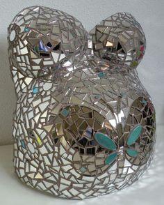 Gipsbuik spiegel mozaik