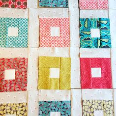Log cabin quilt in progress at Butterfly Bright workshops