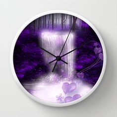My secret place Wall Clock by Giada Rossi - $30.00