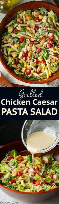 Chicken Caesar Pasta Salad - Cooking Classy