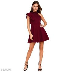 Checkout this latest Dresses Product Name: *Women's Solid Maroon Cotton Blend Dress* Sizes: S, M, L, XL Easy Returns Available In Case Of Any Issue   Catalog Rating: ★4.3 (493)  Catalog Name: Romita Fancy Cotton Blend Dresses Vol 2 CatalogID_64330 C79-SC1025 Code: 684-579080-2721