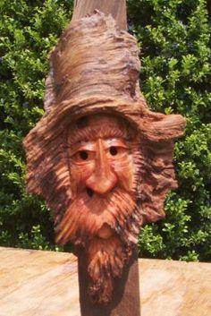 Spirit if the wood walking stick...
