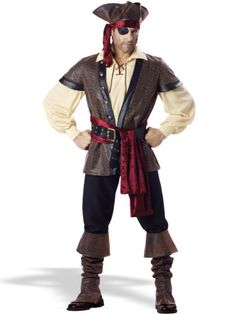 Rustic Pirate Elite Adult Costume Men s Pirate Costume fe7cb8fb139d
